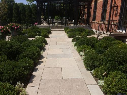 backyard walk and landscaping by landscape architect
