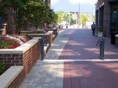 urban streetscape with landscape by landscape architect